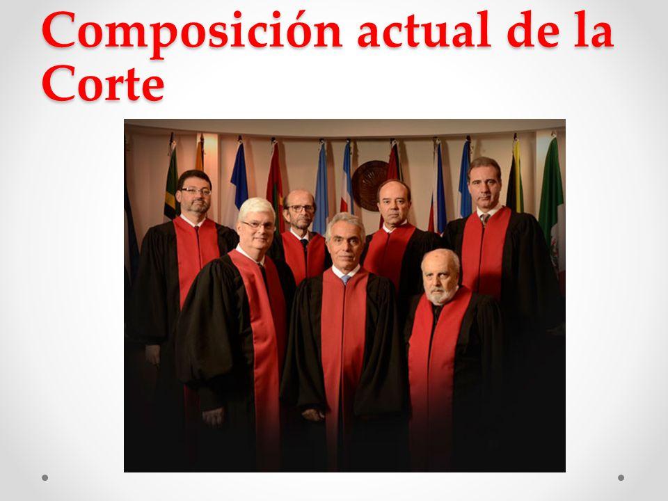 Composición actual de la Corte