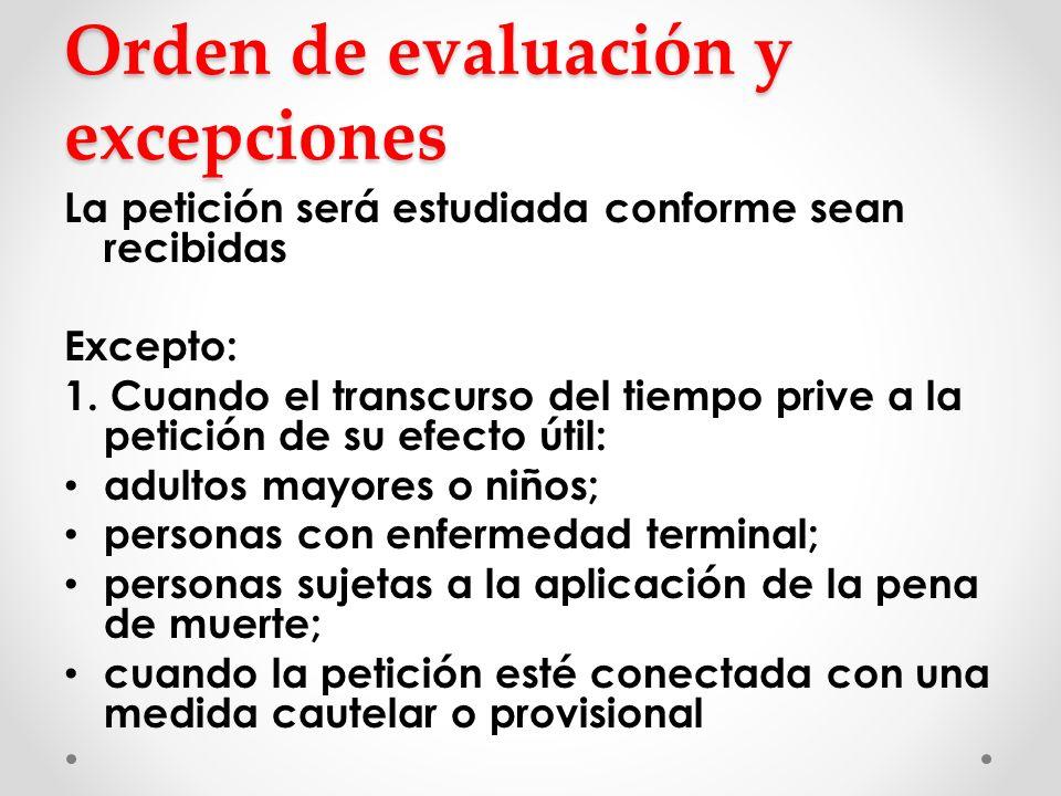 Orden de evaluación y excepciones
