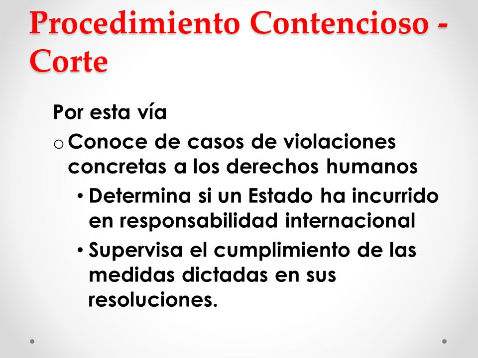 Procedimiento Contencioso - Corte