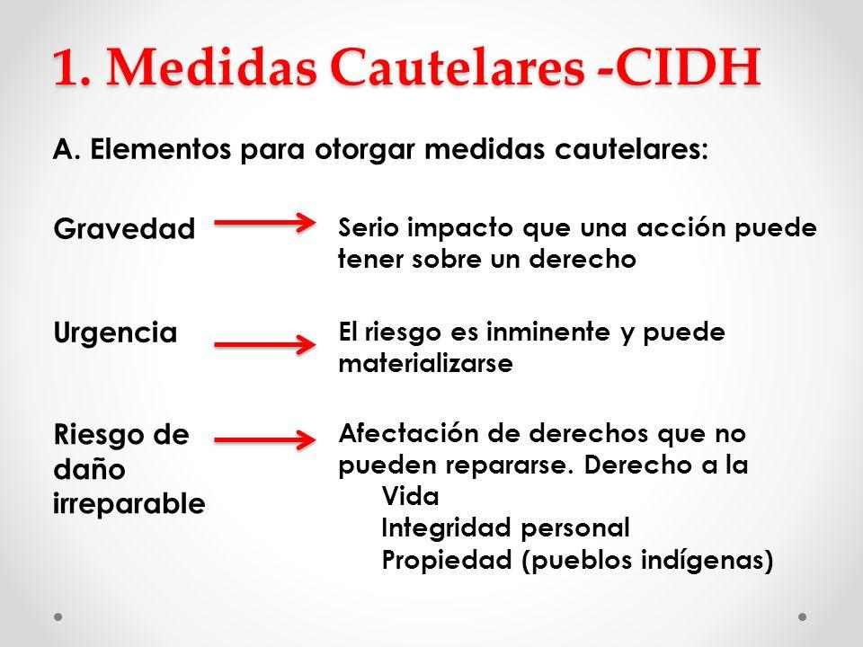 1. Medidas Cautelares -CIDH