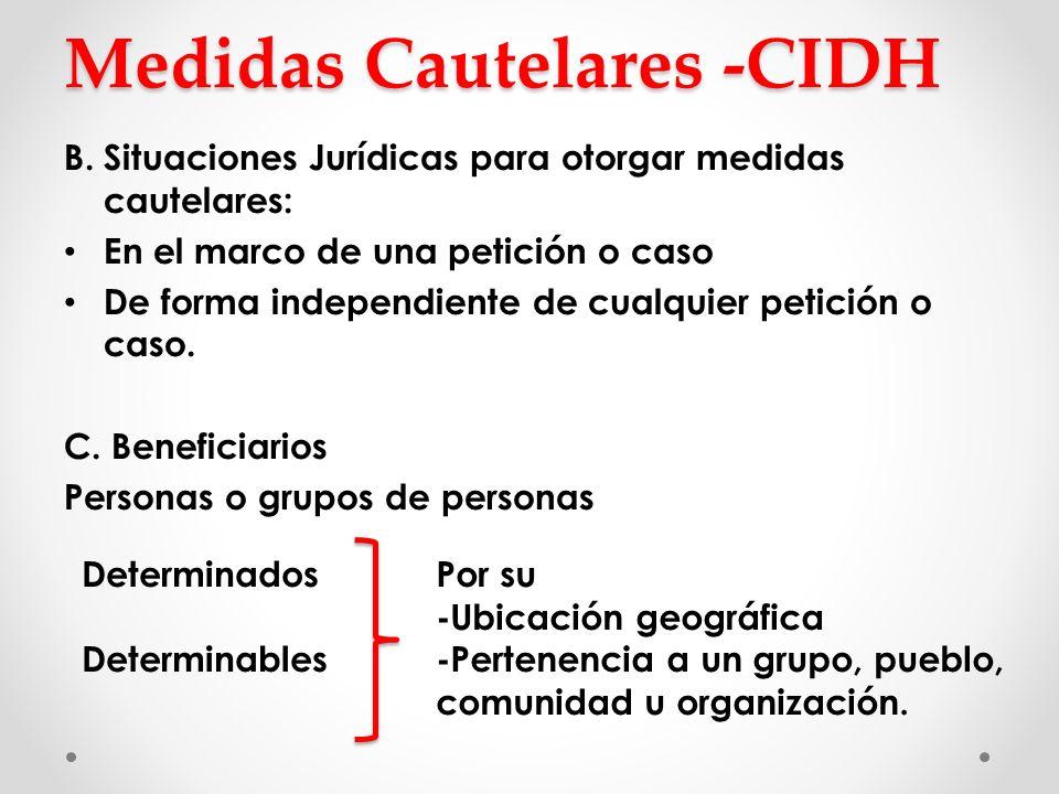 Medidas Cautelares -CIDH