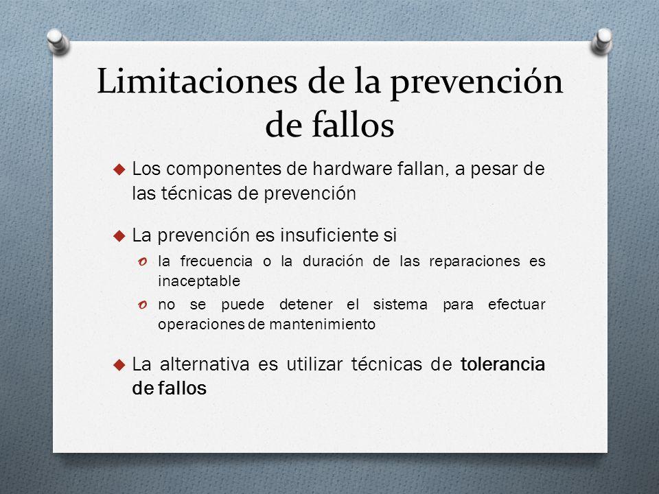 Limitaciones de la prevención de fallos