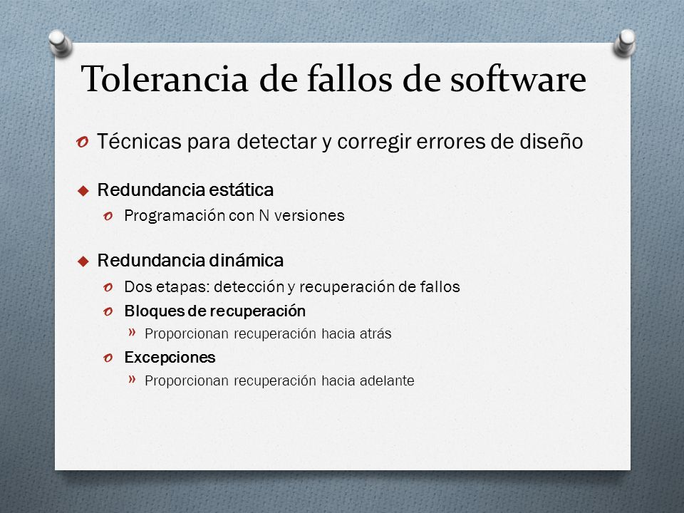 Tolerancia de fallos de software