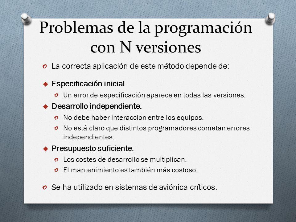 Problemas de la programación con N versiones