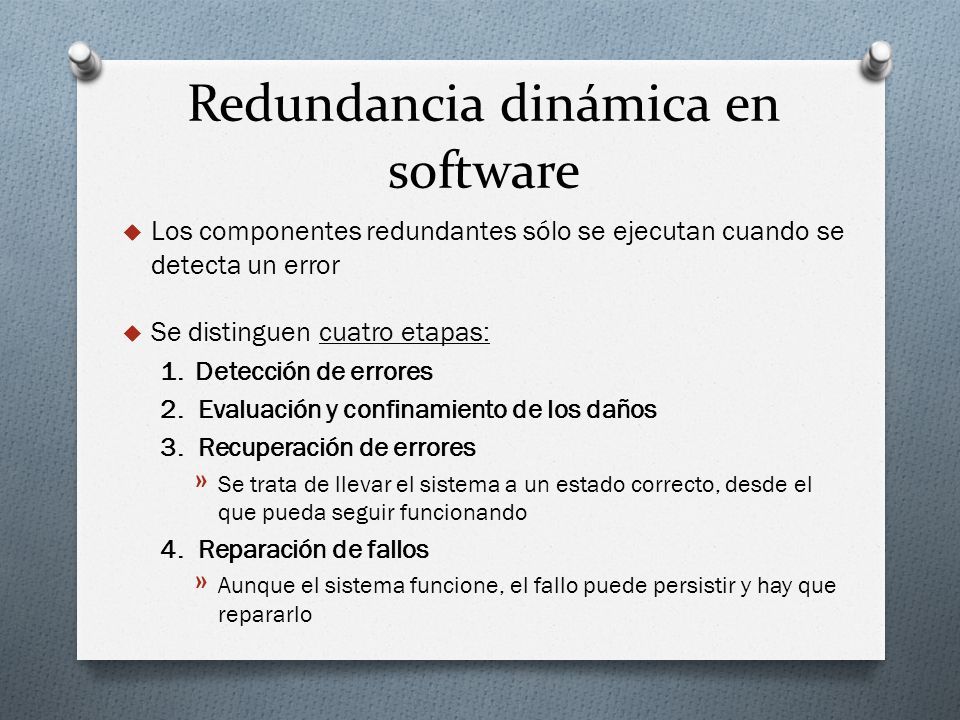 Redundancia dinámica en software