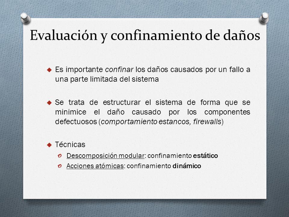 Evaluación y confinamiento de daños