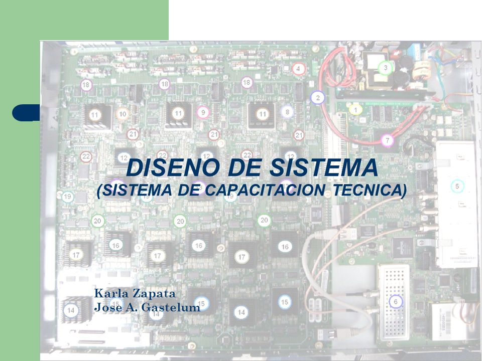 DISENO DE SISTEMA (SISTEMA DE CAPACITACION TECNICA)