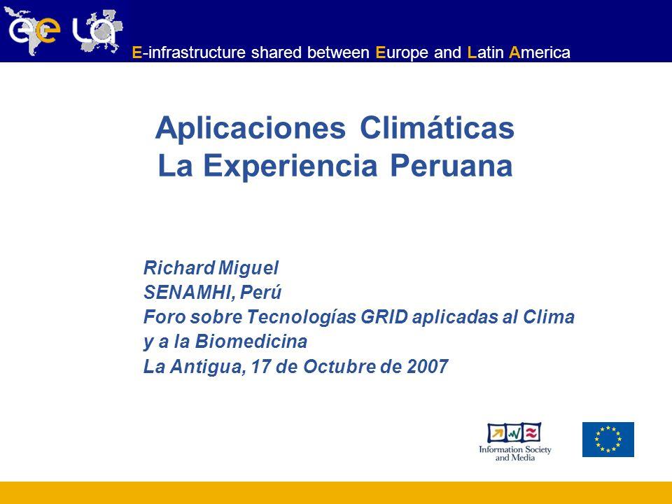 Aplicaciones Climáticas La Experiencia Peruana