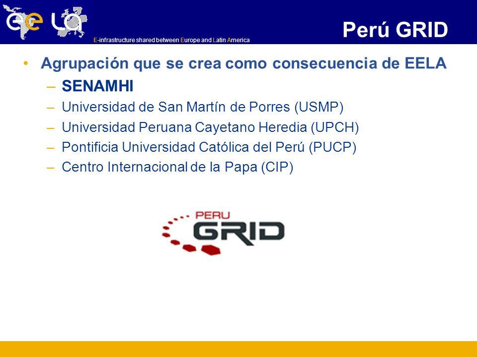Perú GRID Agrupación que se crea como consecuencia de EELA SENAMHI