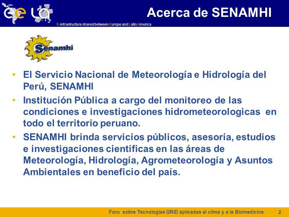 Acerca de SENAMHI El Servicio Nacional de Meteorología e Hidrología del Perú, SENAMHI.