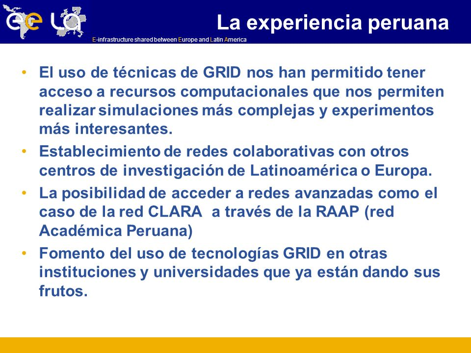 La experiencia peruana