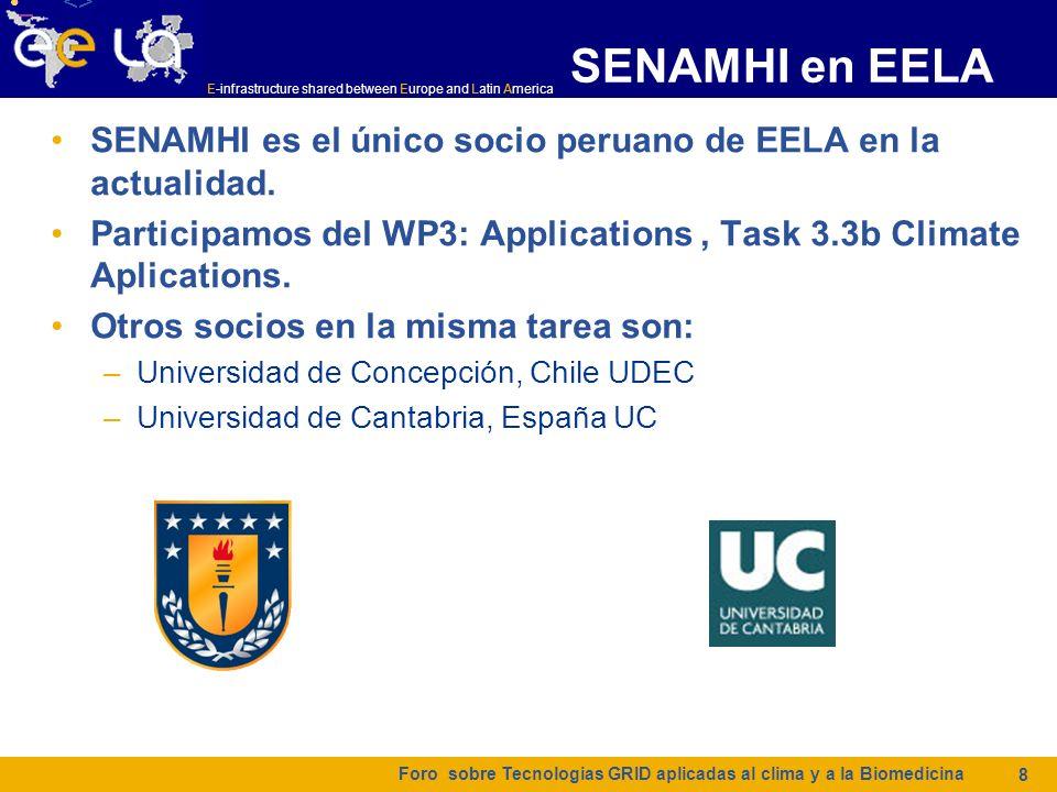 <> <> <> <> SENAMHI en EELA. SENAMHI es el único socio peruano de EELA en la actualidad.