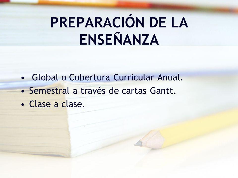 PREPARACIÓN DE LA ENSEÑANZA