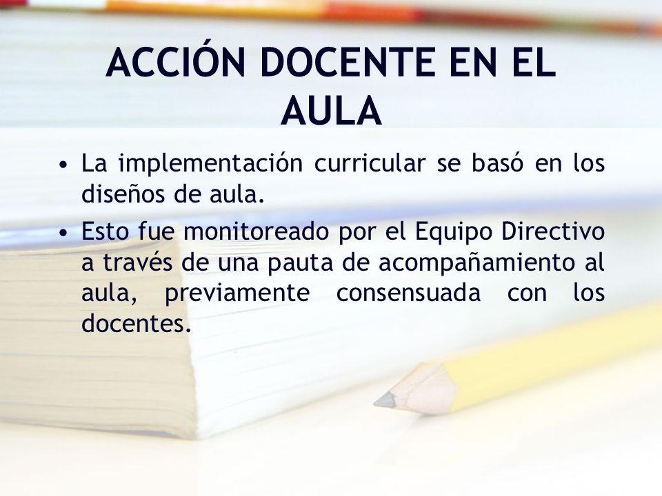 ACCIÓN DOCENTE EN EL AULA