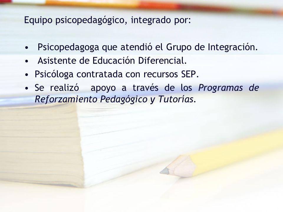 Equipo psicopedagógico, integrado por: