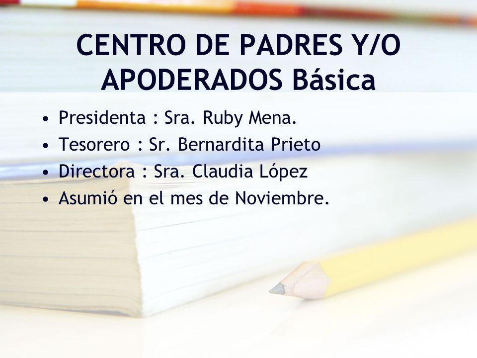 CENTRO DE PADRES Y/O APODERADOS Básica