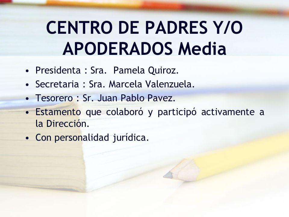 CENTRO DE PADRES Y/O APODERADOS Media