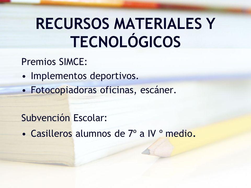 RECURSOS MATERIALES Y TECNOLÓGICOS