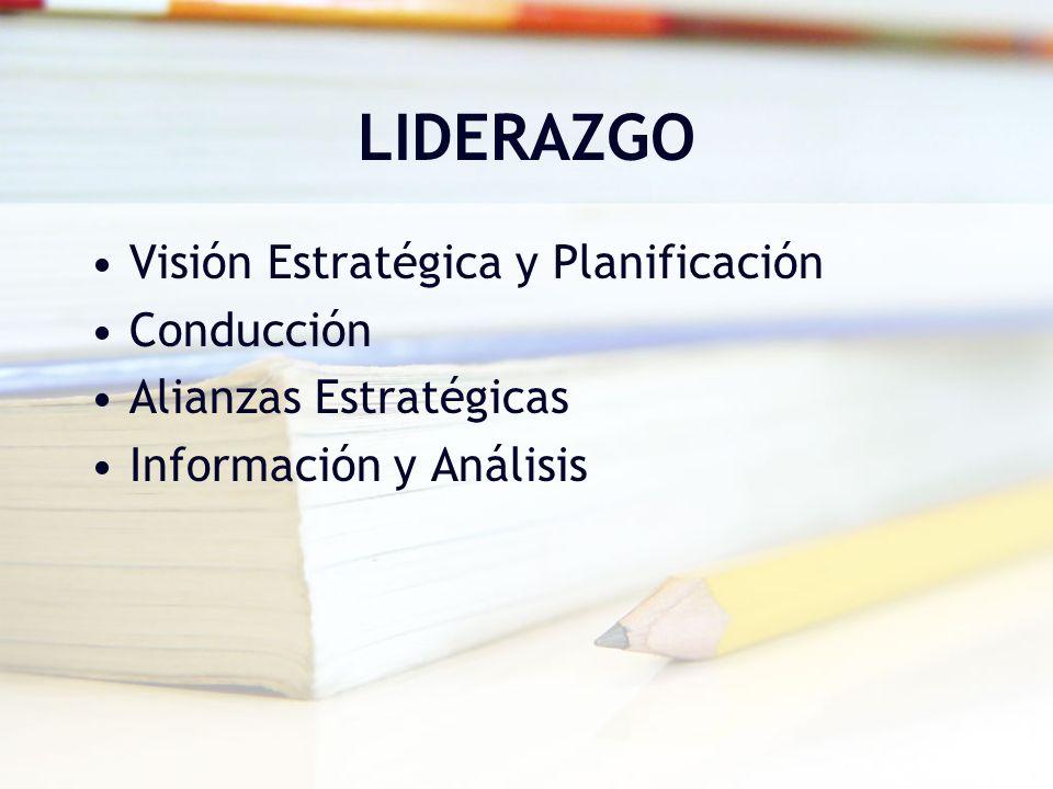 LIDERAZGO Visión Estratégica y Planificación Conducción