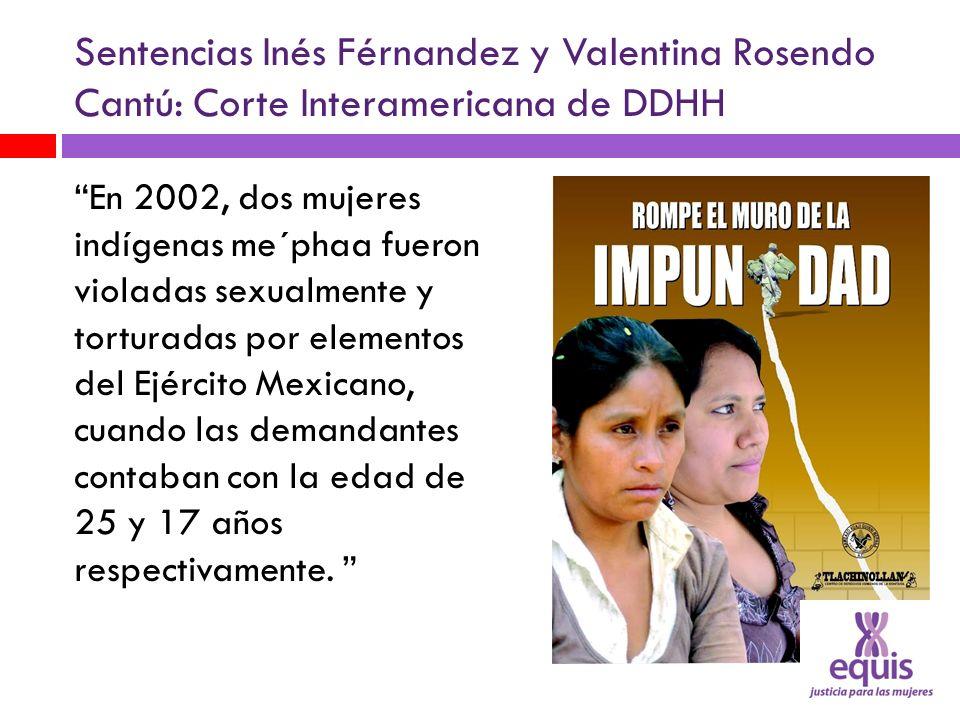 Sentencias Inés Férnandez y Valentina Rosendo Cantú: Corte Interamericana de DDHH
