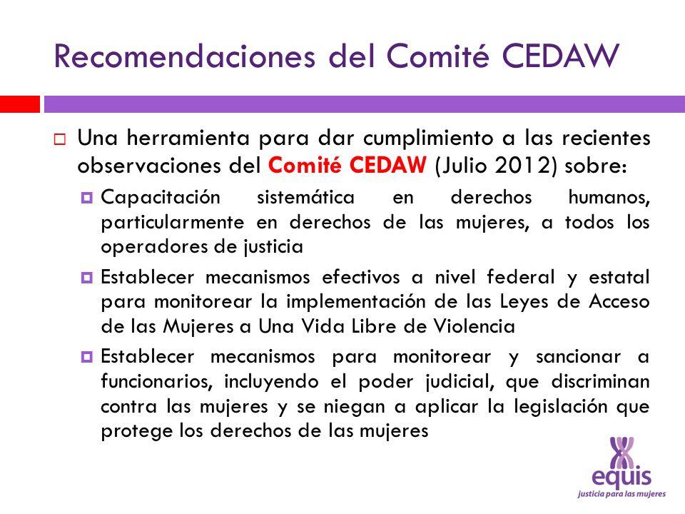 Recomendaciones del Comité CEDAW