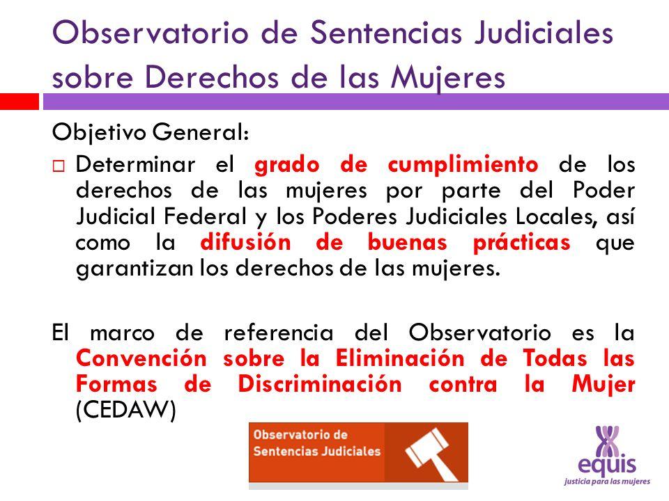 Observatorio de Sentencias Judiciales sobre Derechos de las Mujeres