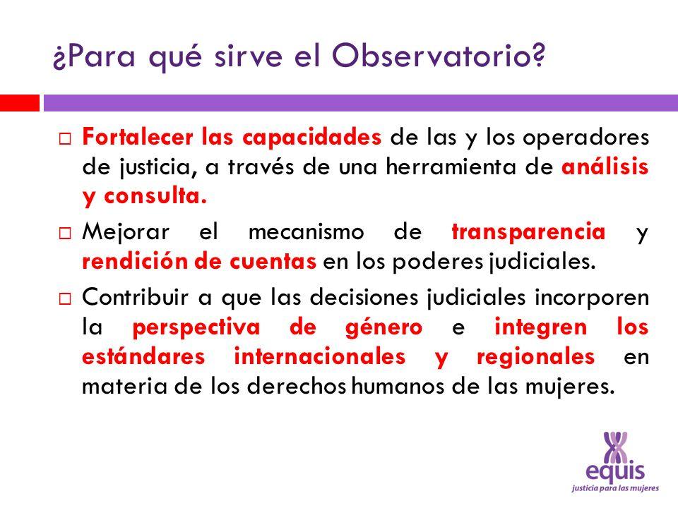 ¿Para qué sirve el Observatorio