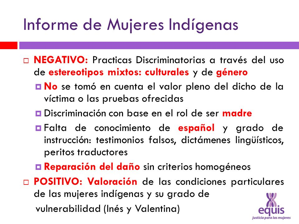 Informe de Mujeres Indígenas