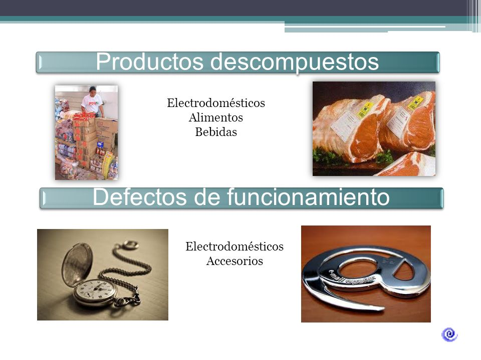 Productos descompuestos