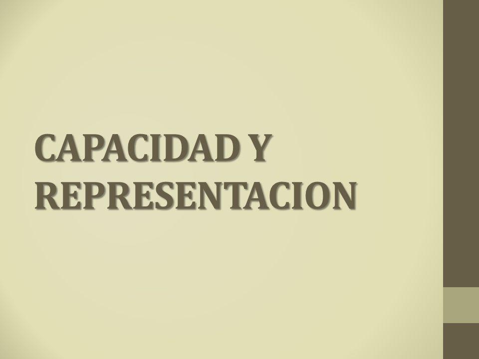 CAPACIDAD Y REPRESENTACION