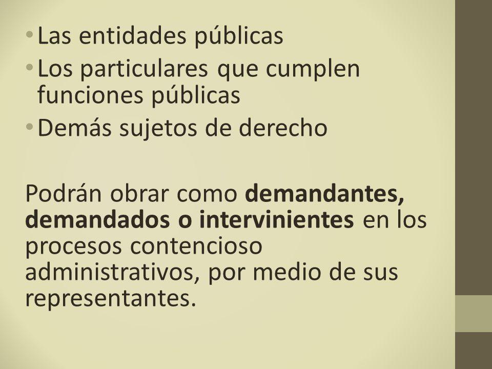 Las entidades públicas