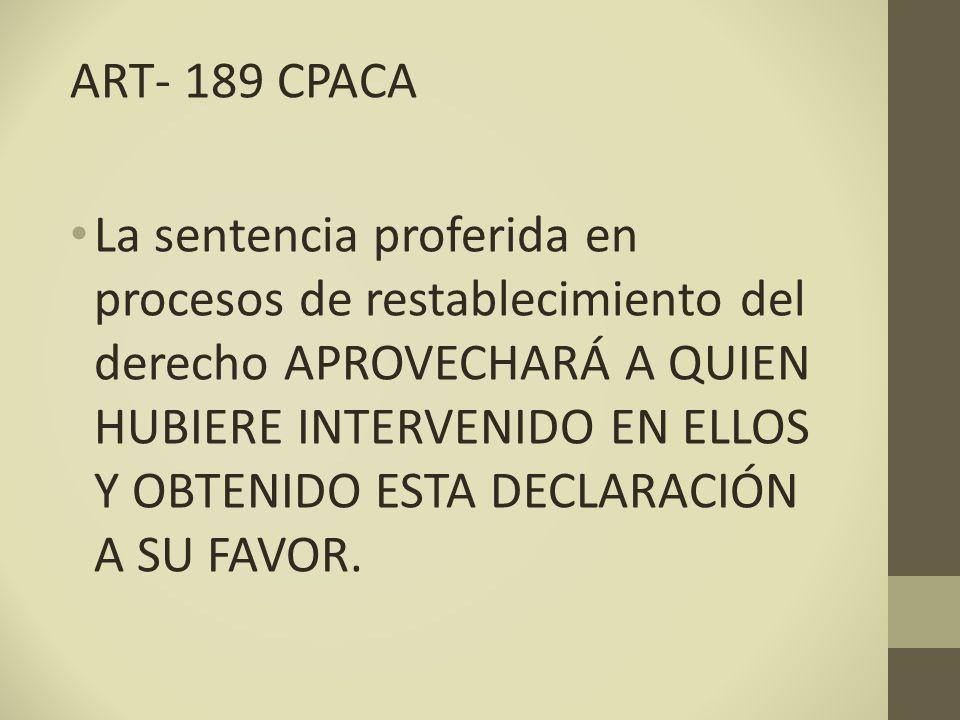ART- 189 CPACA