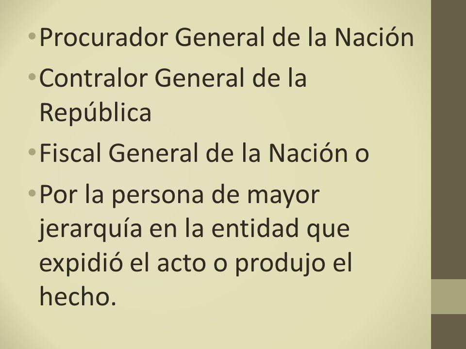 Procurador General de la Nación