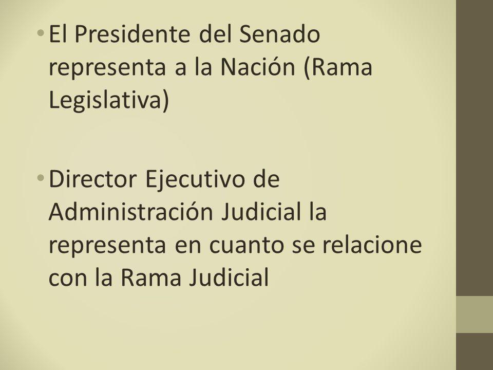 El Presidente del Senado representa a la Nación (Rama Legislativa)