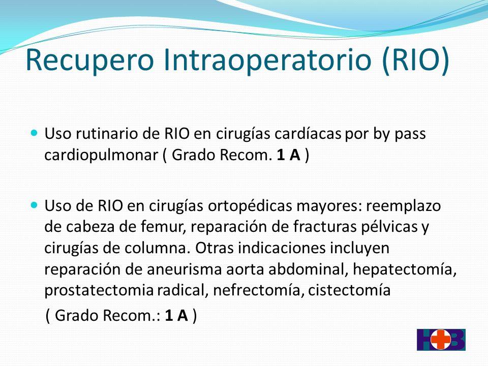 Recupero Intraoperatorio (RIO)
