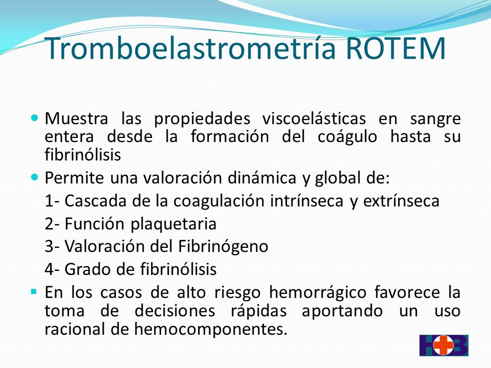 Tromboelastrometría ROTEM