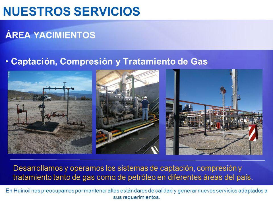NUESTROS SERVICIOS Captación, Compresión y Tratamiento de Gas