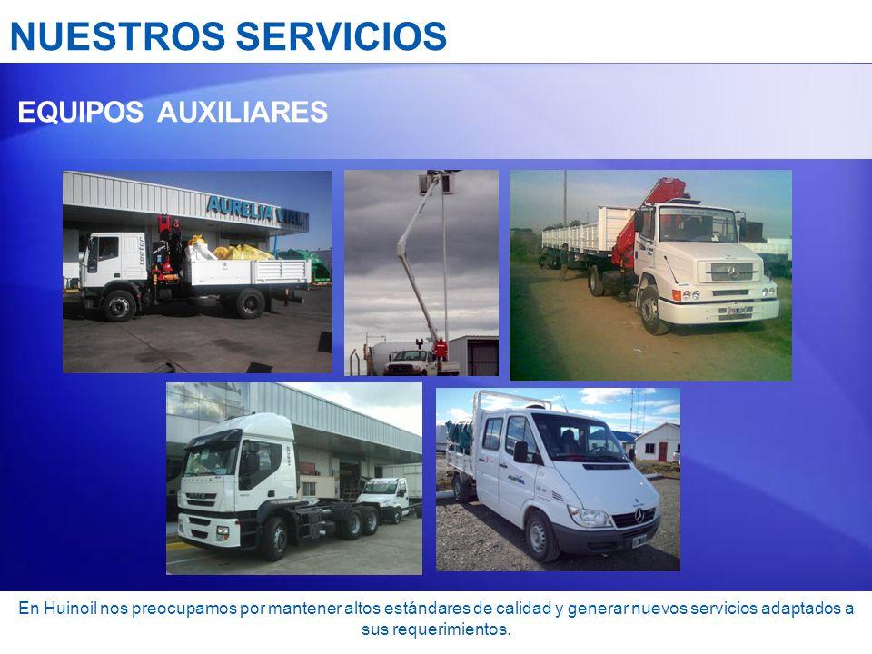 NUESTROS SERVICIOS EQUIPOS AUXILIARES