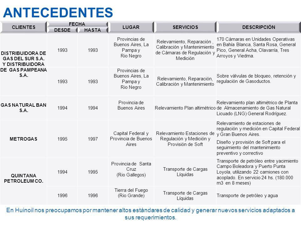 DISTRIBUIDORA DE GAS DEL SUR S.A. Y DISTRIBUIDORA DE GAS PAMPEANA S.A.