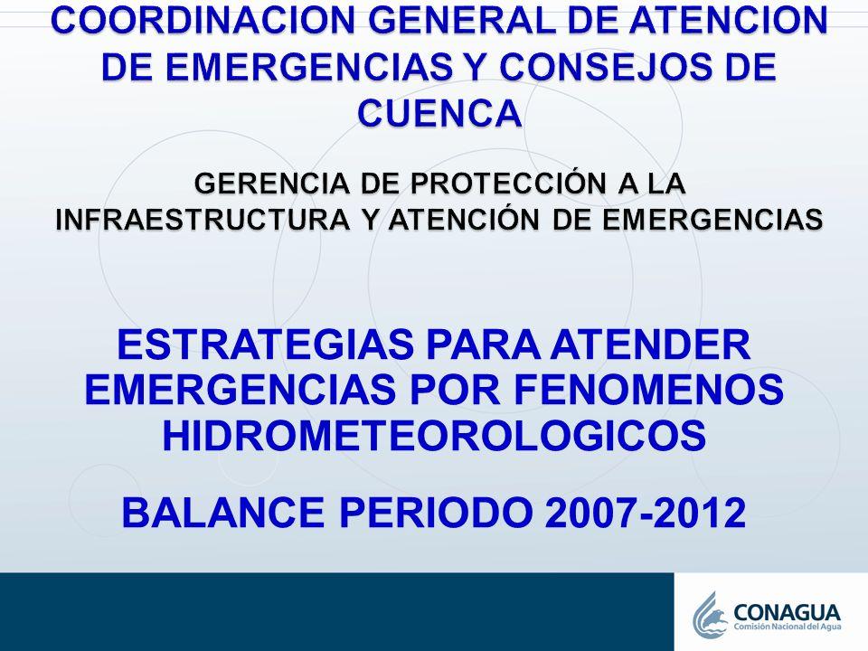 ESTRATEGIAS PARA ATENDER EMERGENCIAS POR FENOMENOS HIDROMETEOROLOGICOS