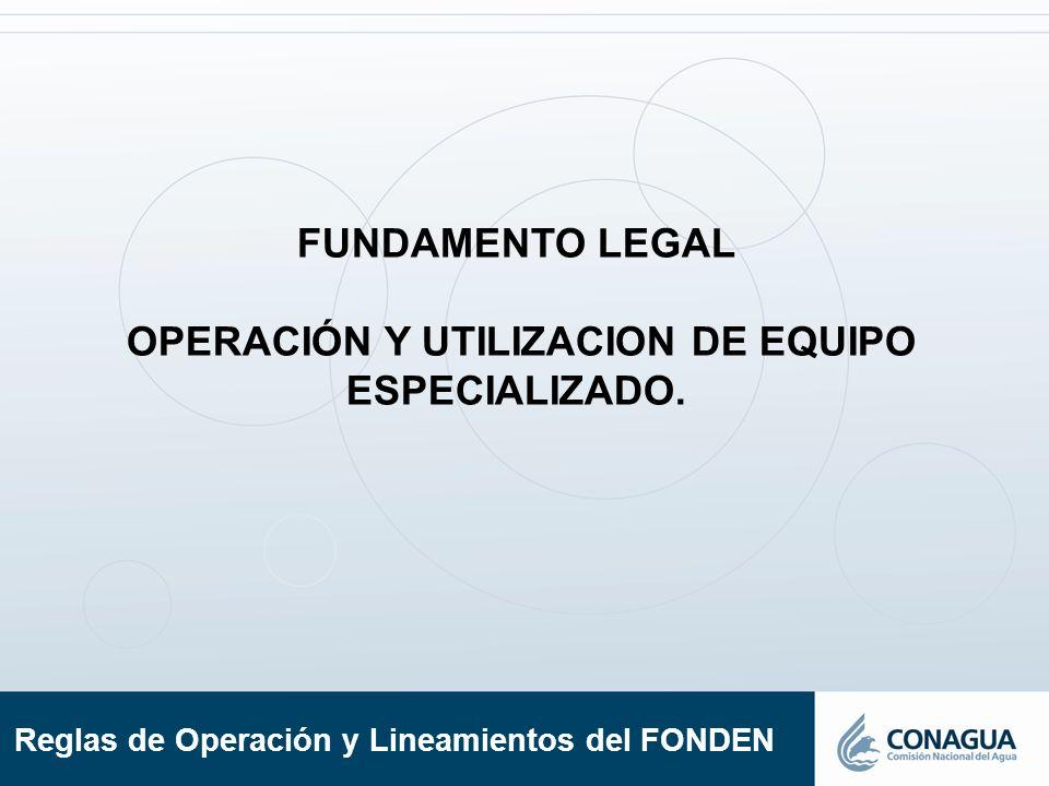 OPERACIÓN Y UTILIZACION DE EQUIPO ESPECIALIZADO.