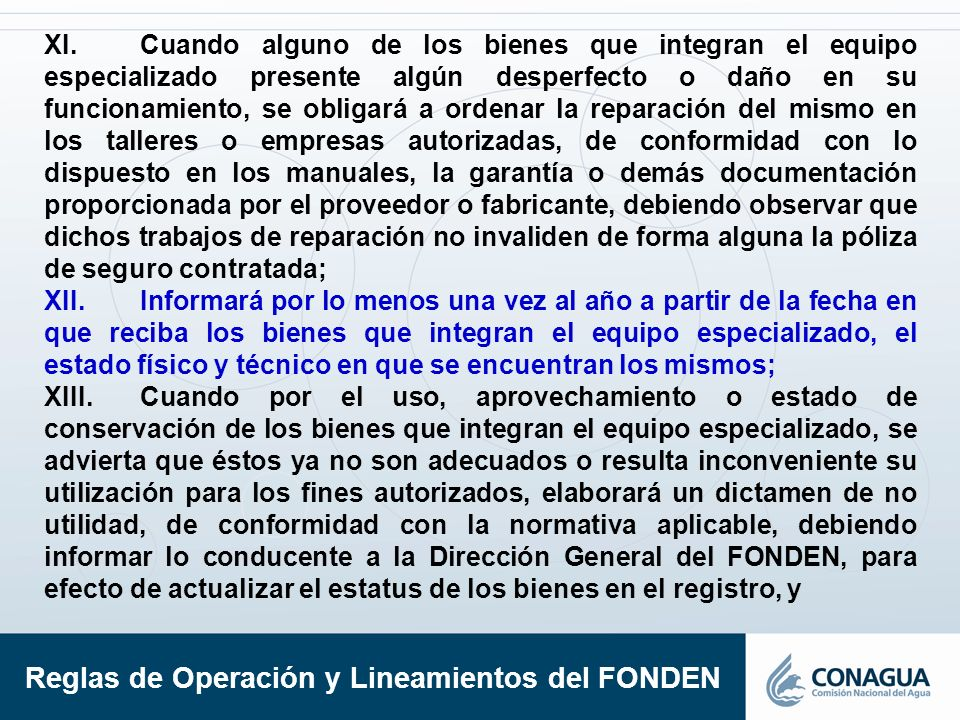 Reglas de Operación y Lineamientos del FONDEN