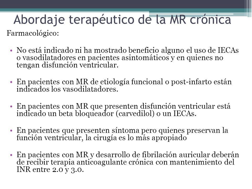 Abordaje terapéutico de la MR crónica