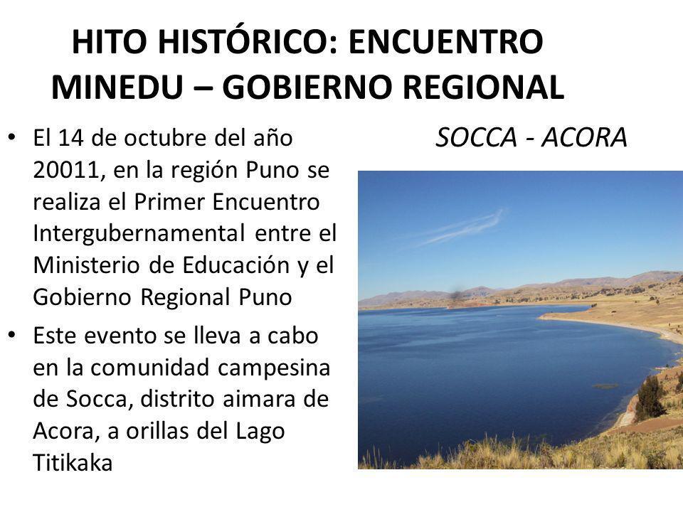 HITO HISTÓRICO: ENCUENTRO MINEDU – GOBIERNO REGIONAL