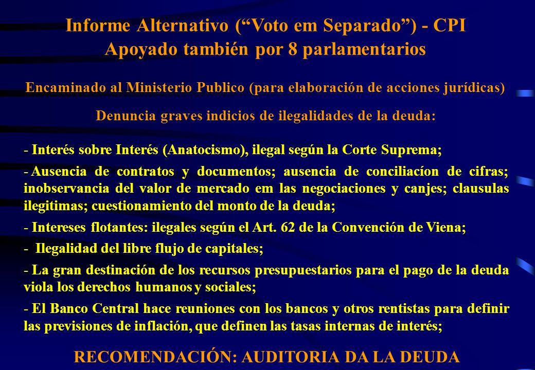 Informe Alternativo ( Voto em Separado ) - CPI