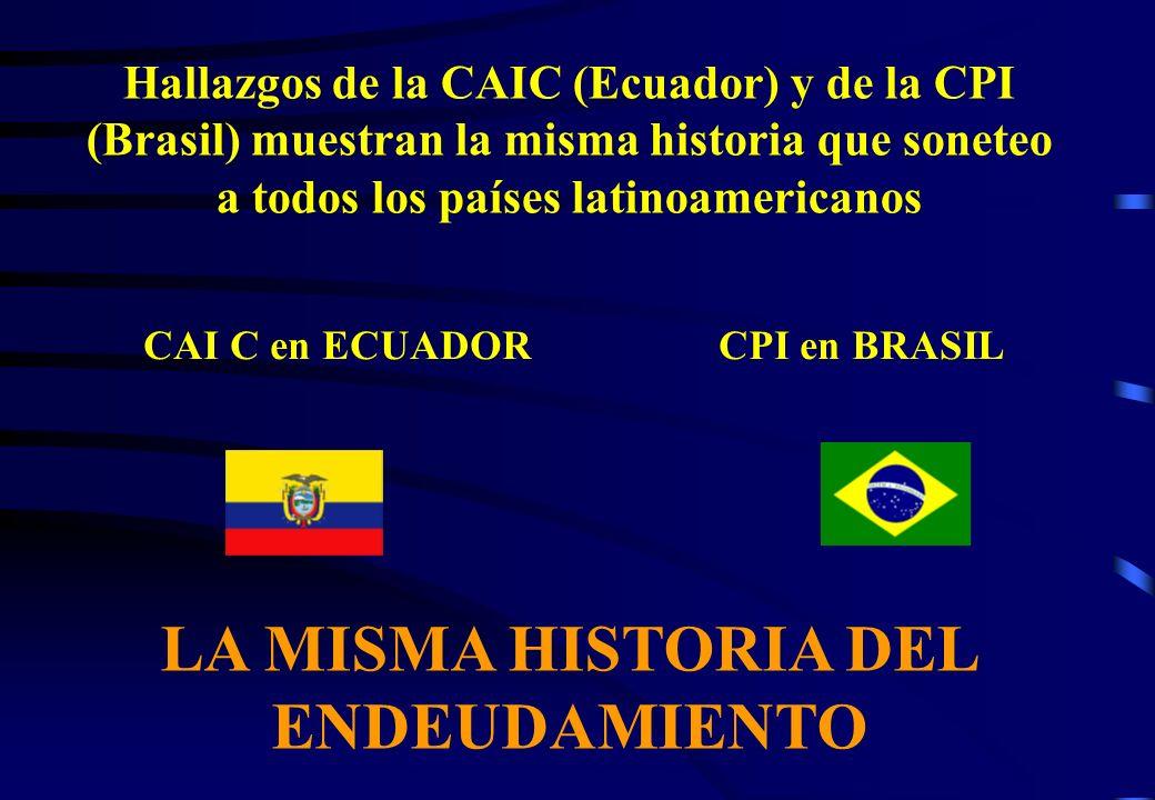 LA MISMA HISTORIA DEL ENDEUDAMIENTO
