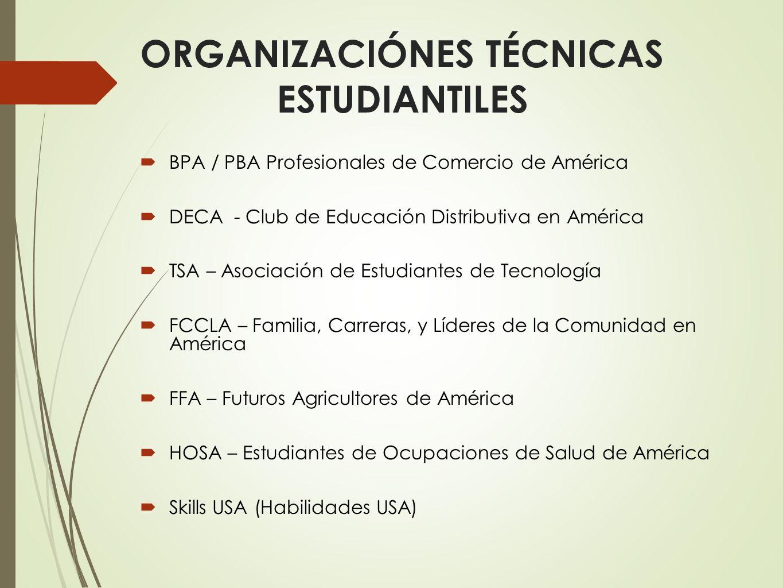 ORGANIZACIÓNES TÉCNICAS ESTUDIANTILES