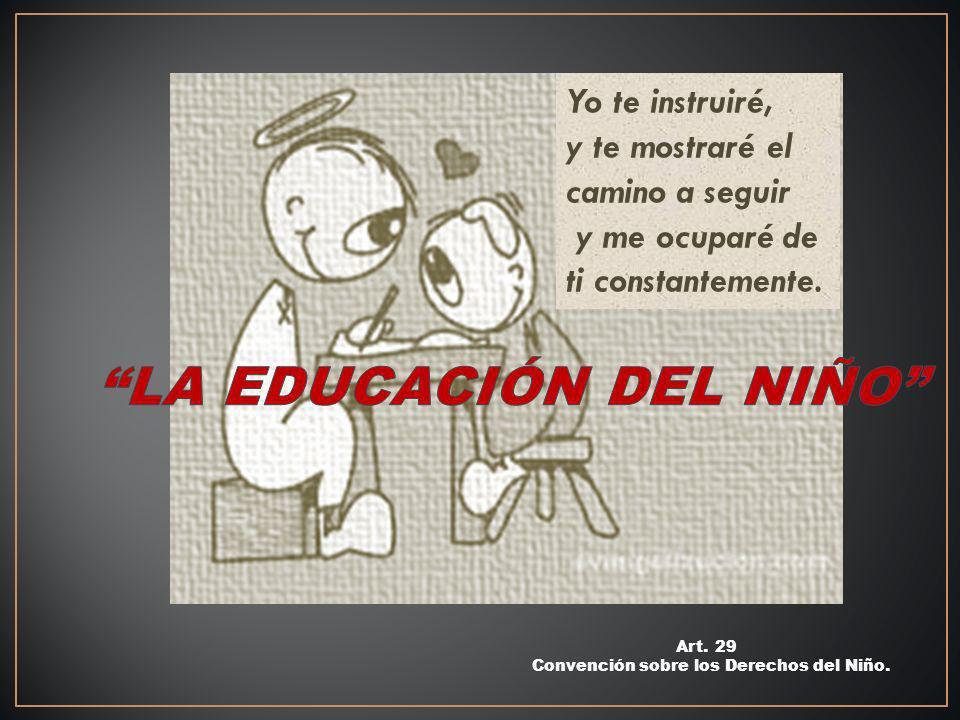 LA EDUCACIÓN DEL NIÑO