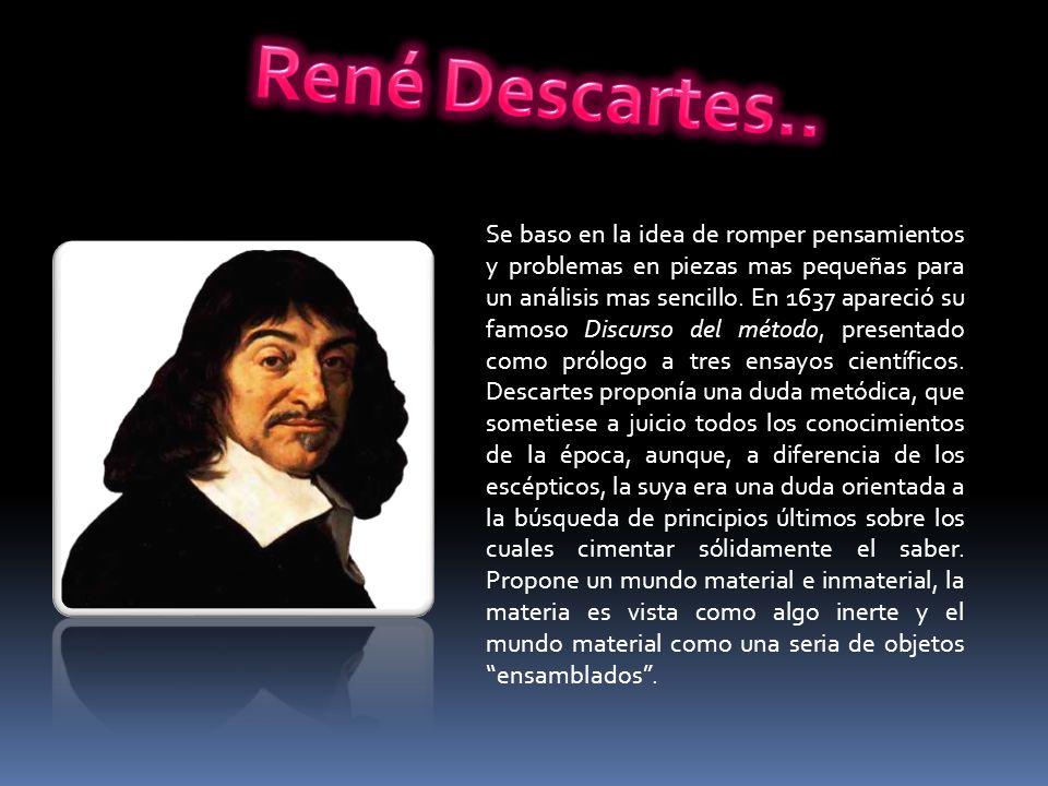 René Descartes..