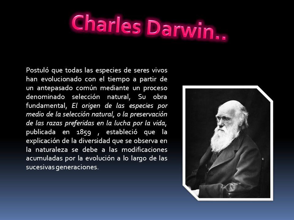 Charles Darwin..